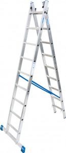 Krause STABILO Professional kétrészes létrafokos többcélú létra, 2x9 fokos termék fő termékképe
