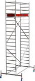 Krause STABILO Professional gurulóállvány, 10 -es sorozat, mezőméret: 2.5 m x 0.75 m, munkamagasság: 6.4 m