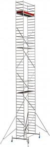 Krause STABILO Professional gurulóállvány, 10 -es sorozat, mezőméret: 2.5 m x 0.75 m, munkamagasság: 13.4 m termék fő termékképe