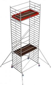Krause STABILO Professional gurulóállvány, 50 -es sorozat, mezőméret: 2.5 m x 1.5 m, munkamagasság: 8.4 m termék fő termékképe