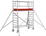 Krause STABILO Professional gurulóállvány, 1000 -es sorozat, mezőméret: 2.5 m x 0.75 m, munkamagasság: 4.3 m