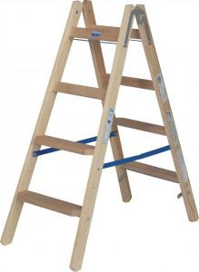 Krause STABILO Professional két oldalon járható lépcső- / létrafokos fa állólétra, 2x4 fokos termék fő termékképe