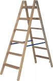 Krause STABILO Professional két oldalon járható lépcső- / létrafokos fa állólétra, 2x6 fokos