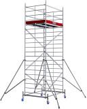 Krause ProTec XXL alumínium gurulóállvány, széles változat, munkamagasság: 6.3 m