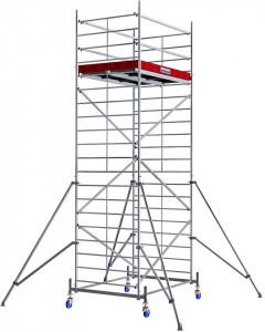 Krause ProTec XXL alumínium gurulóállvány, széles változat, munkamagasság: 6.3 m termék fő termékképe
