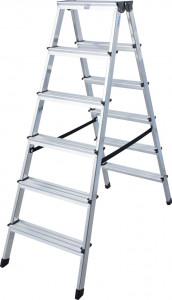 Krause MONTO Dopplo két oldalon járható lépcsőfokos állólétra, 2x6 fokos termék fő termékképe