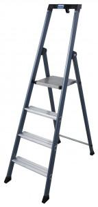 Krause MONTO SePro S egy oldalon járható lépcsőfokos állólétra, eloxált, 4 fokos termék fő termékképe