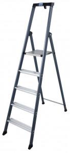 Krause MONTO SePro S egy oldalon járható lépcsőfokos állólétra, eloxált, 5 fokos termék fő termékképe