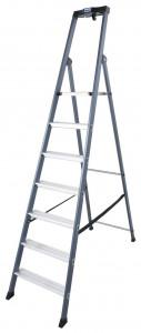 Krause MONTO SePro S egy oldalon járható lépcsőfokos állólétra, eloxált, 7 fokos termék fő termékképe
