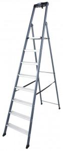 Krause MONTO SePro S egy oldalon járható lépcsőfokos állólétra, eloxált, 8 fokos termék fő termékképe