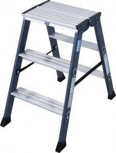 Krause MONTO SePro D két oldalon járható lépcsőfokos állólétra, eloxált, 2x3 fokos termék fő termékképe