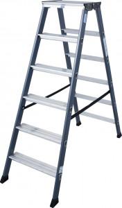 Krause MONTO SePro D két oldalon járható lépcsőfokos állólétra, eloxált, 2x6 fokos termék fő termékképe