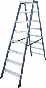 Krause MONTO SePro D két oldalon járható lépcsőfokos állólétra, eloxált, 2x8 fokos termék fő termékképe