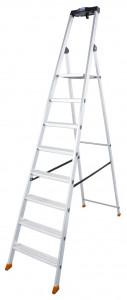Krause MONTO Solido egy oldalon járható lépcsőfokos állólétra, 8 fokos termék fő termékképe