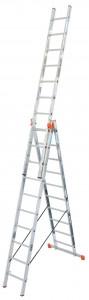 Krause MONTO Tribilo háromrészes létrafokos sokcélú létra lépcsőfunkcióval, 3x10 fokos termék fő termékképe