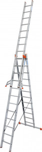 Krause MONTO Tribilo háromrészes létrafokos sokcélú létra lépcsőfunkcióval, 3x12 fokos termék fő termékképe
