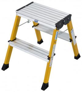 Krause MONTO Rolly gurítható, két oldalon járható összecsukható fellépő, sárga, 2x2 fokos termék fő termékképe