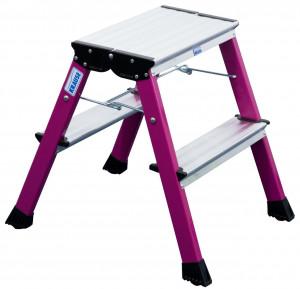 Krause MONTO Rolly gurítható, két oldalon járható összecsukható fellépő, pink, 2x2fokos termék fő termékképe