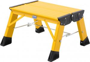 Krause MONTO Treppy PlusLine összecsukható fellépő, sárga, 1fokos termék fő termékképe