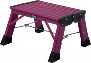 Krause MONTO Treppy PlusLine összecsukható fellépő, pink, 1fokos termék fő termékképe