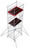 Krause ProTec XXL alumínium gurulóállvány, széles változat, munkamagasság: 7.3 m