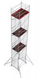 Krause ProTec XXL alumínium gurulóállvány, széles változat, munkamagasság: 12.3 m