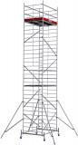 Krause ProTec XXL alumínium gurulóállvány, széles változat, munkamagasság: 9.3 m