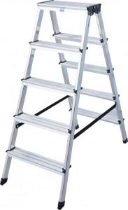 Krause MONTO Dopplo két oldalon járható lépcsőfokos állólétra, 2x5 fokos termék fő termékképe