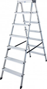 Krause MONTO Dopplo két oldalon járható lépcsőfokos állólétra, 2x7 fokos termék fő termékképe