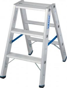 Krause STABILO Professional két oldalon járható lépcsőfokos állólétra, 2x3 fokos termék fő termékképe