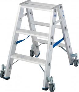 Krause STABILO Professional két oldalon járható lépcsőfokos állólétra, gurítható, 2x3 fokos termék fő termékképe