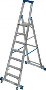 Krause STABILO Professional egy oldalon járható gurítható lépcsőfokos állólétra kitámasztóval, 7 fokos termék fő termékképe