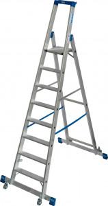 Krause STABILO Professional egy oldalon járható gurítható lépcsőfokos állólétra kitámasztóval, 8 fokos termék fő termékképe