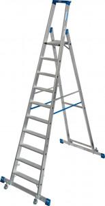 Krause STABILO Professional egy oldalon járható gurítható lépcsőfokos állólétra kitámasztóval, 10 fokos termék fő termékképe