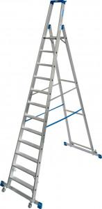 Krause STABILO Professional egy oldalon járható gurítható lépcsőfokos állólétra kitámasztóval, 12 fokos termék fő termékképe