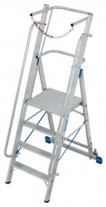 Krause STABILO Professional egy oldalon járható lépcsőfokos állólétra nagy dobogóval és kapaszkodókerettel, 4 fokos termék fő termékképe