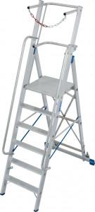 Krause STABILO Professional egy oldalon járható lépcsőfokos állólétra nagy dobogóval és kapaszkodókerettel, 6 fokos termék fő termékképe