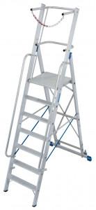 Krause STABILO Professional egy oldalon járható lépcsőfokos állólétra nagy dobogóval és kapaszkodókerettel, 7 fokos termék fő termékképe