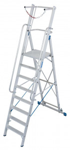 Krause STABILO Professional egy oldalon járható lépcsőfokos állólétra nagy dobogóval és kapaszkodókerettel, 8 fokos termék fő termékképe