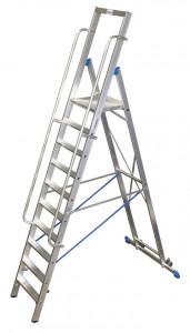 Krause STABILO Professional egy oldalon járható lépcsőfokos állólétra nagy dobogóval, 10 fokos termék fő termékképe