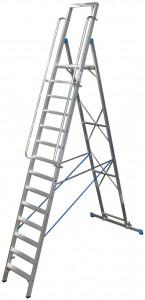 Krause STABILO Professional egy oldalon járható lépcsőfokos állólétra nagy dobogóval, 14 fokos termék fő termékképe