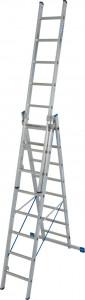 Krause STABILO Professional háromrészes létrafokos sokcélú létra lépcsőfunkcióval, 3x8 fokos termék fő termékképe