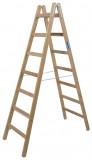 Krause STABILO Professional két oldalon járható fa állólétra, 2x7 fokos