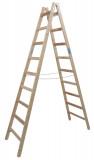 Krause STABILO Professional két oldalon járható fa állólétra, 2x9 fokos