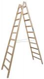 Krause STABILO Professional két oldalon járható fa állólétra, 2x10 fokos