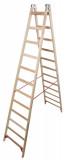 Krause STABILO Professional két oldalon járható fa állólétra, 2x12 fokos