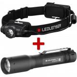 Ledlenser H5 Core Led fejlámpa, 1xAA, 350 lm + P3 Led lámpa, 1xAAA, 25 lm