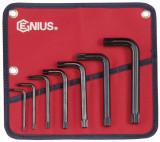 Genius Tools HK-007TS L-alakú 12 szögű XZN Spline torxkulcs készlet, 7 részes