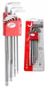 JeTech BL-C9 imbuszkulcs készlet, horganyzott, extra hosszú termék fő termékképe