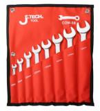 JeTech COM-S8A 8 részes csillag-villáskulcs készlet, 5.5-19 mm